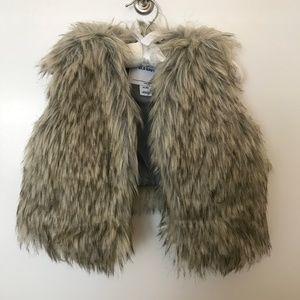NWOT Girls Faux Fur Vest